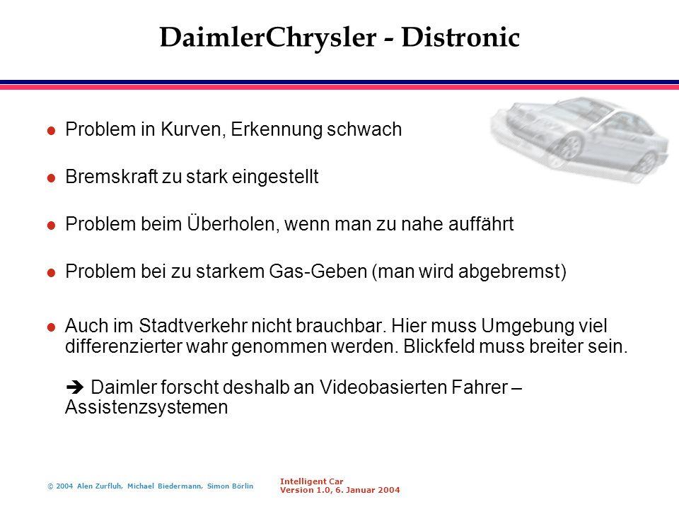 DaimlerChrysler - Distronic