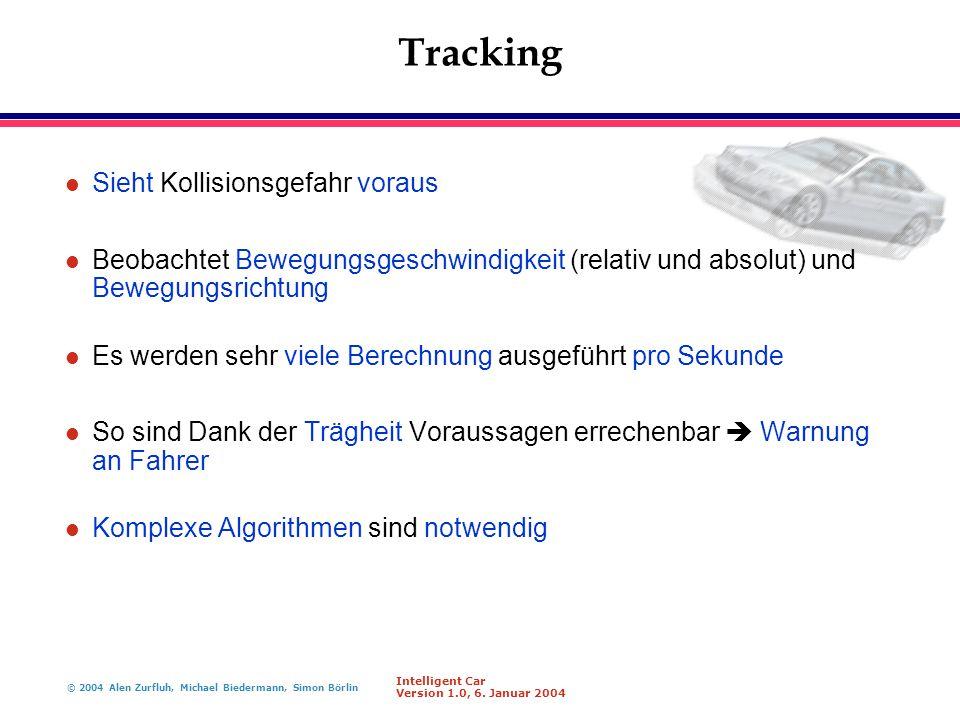 Tracking Sieht Kollisionsgefahr voraus
