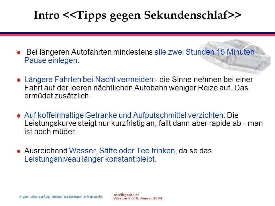 Intro <<Tipps gegen Sekundenschlaf>>