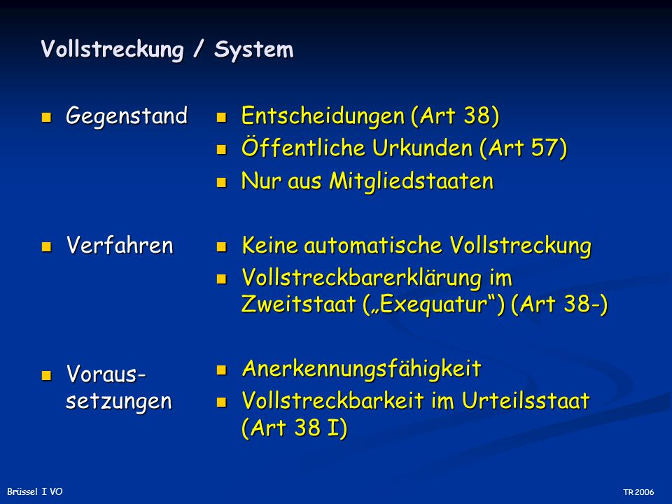 Vollstreckung / System