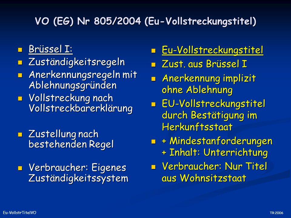 VO (EG) Nr 805/2004 (Eu-Vollstreckungstitel)