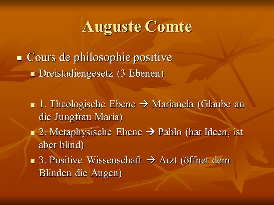 Auguste Comte Cours de philosophie positive