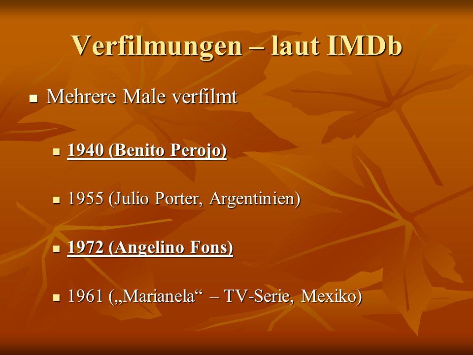 Verfilmungen – laut IMDb