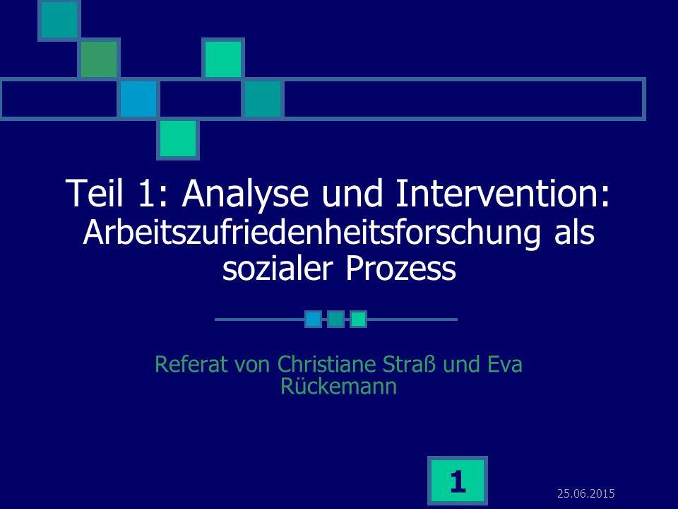 Referat von Christiane Straß und Eva Rückemann