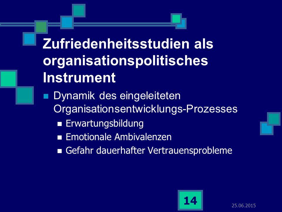 Zufriedenheitsstudien als organisationspolitisches Instrument