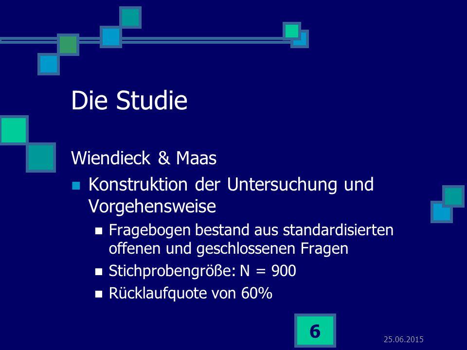 Die Studie Wiendieck & Maas