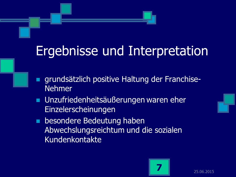 Ergebnisse und Interpretation