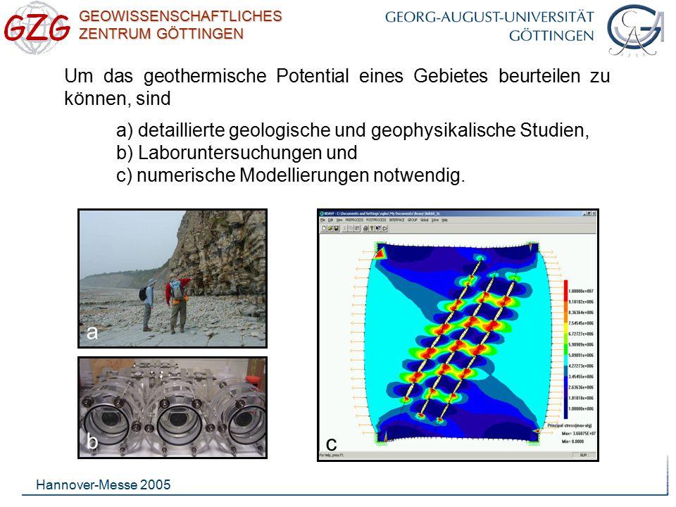 Um das geothermische Potential eines Gebietes beurteilen zu können, sind