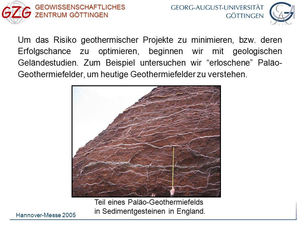 Um das Risiko geothermischer Projekte zu minimieren, bzw