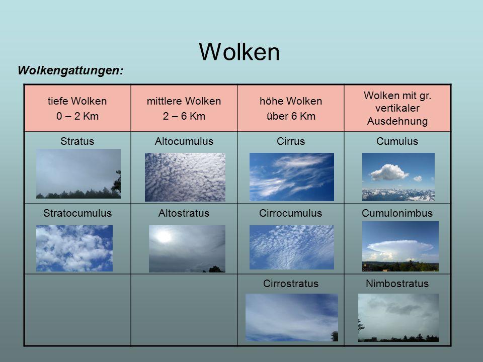Wolken mit gr. vertikaler Ausdehnung