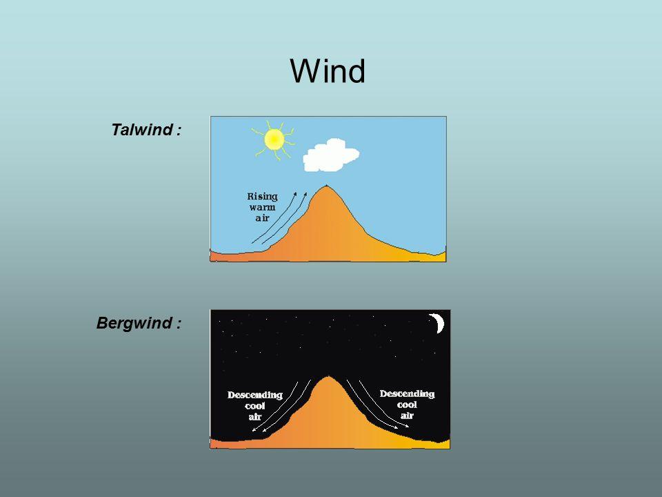 Wind Talwind : Bergwind :