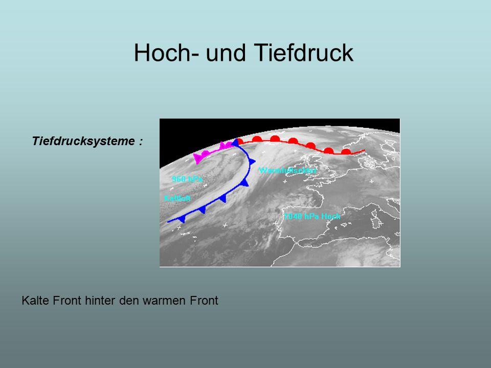 Hoch- und Tiefdruck Tiefdrucksysteme :