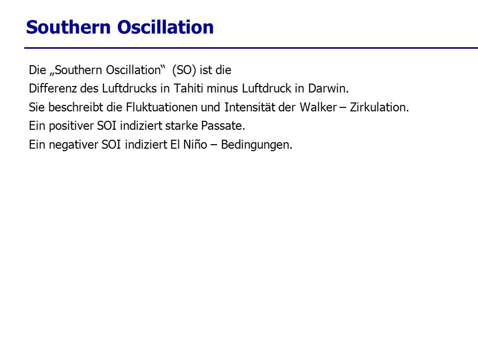 """Southern Oscillation Die """"Southern Oscillation (SO) ist die"""