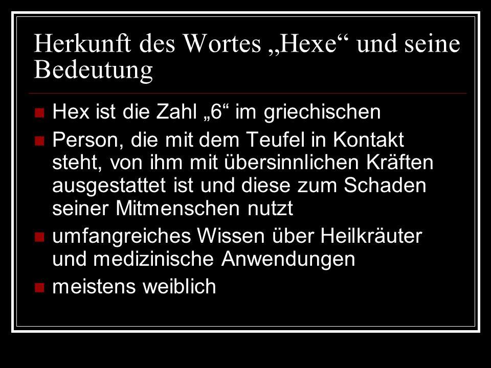 """Herkunft des Wortes """"Hexe und seine Bedeutung"""