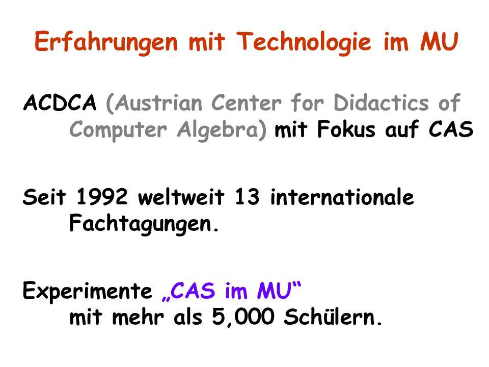 Erfahrungen mit Technologie im MU