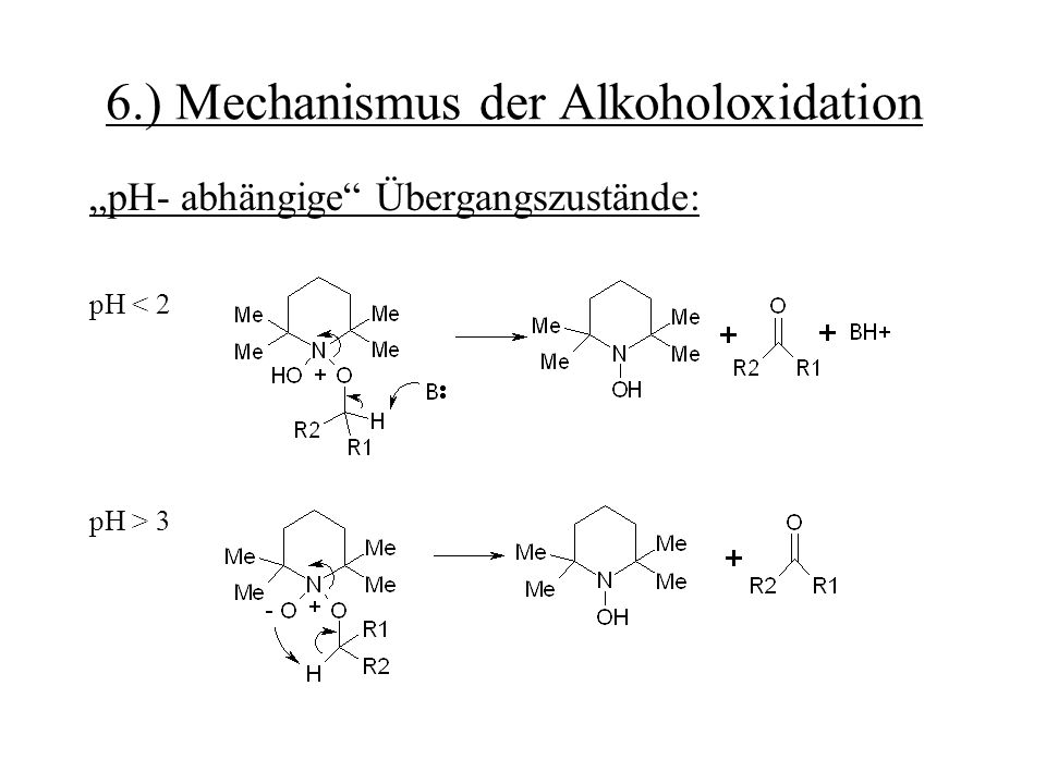 6.) Mechanismus der Alkoholoxidation