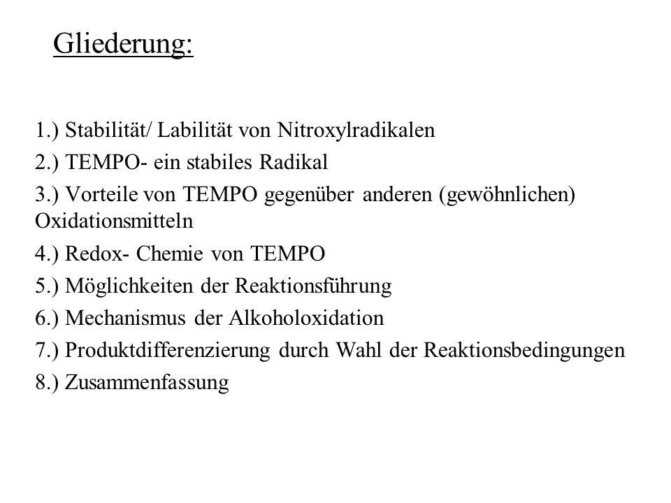 Gliederung: 1.) Stabilität/ Labilität von Nitroxylradikalen