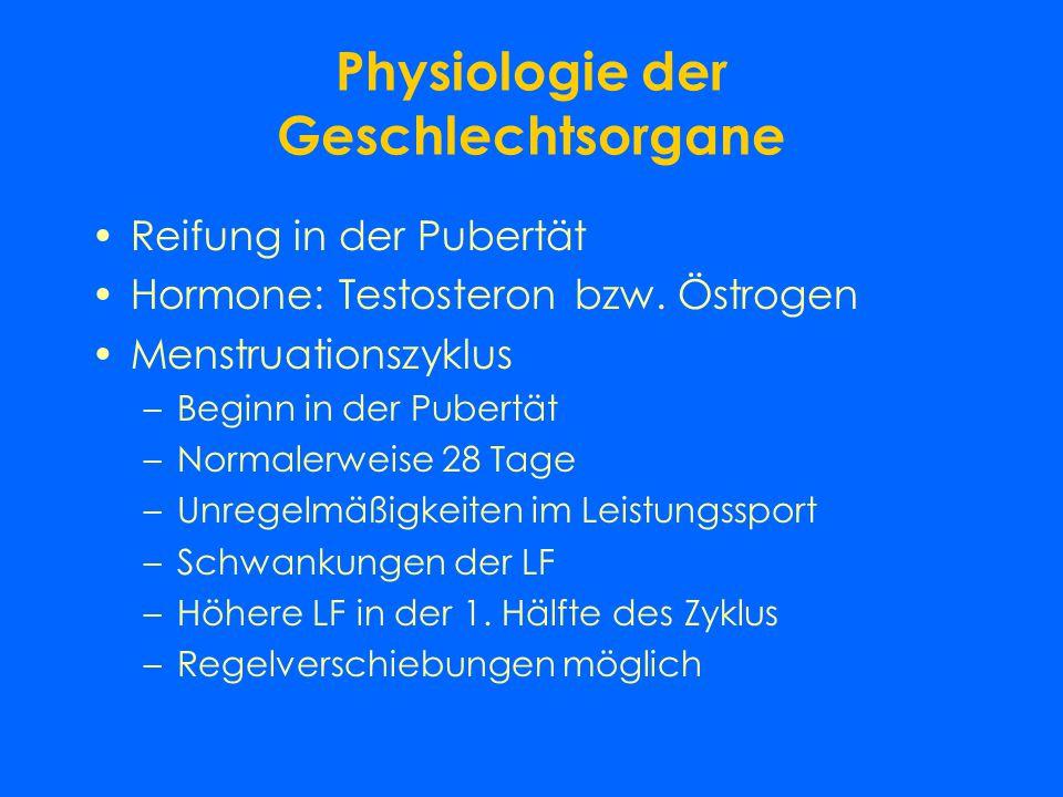 Physiologie der Geschlechtsorgane