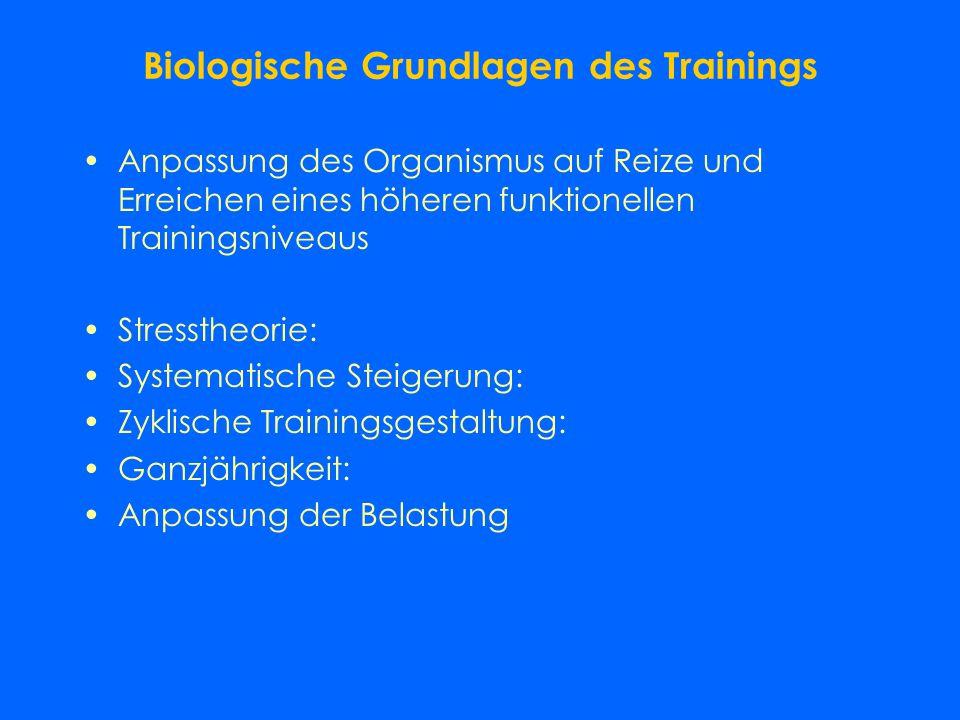 Biologische Grundlagen des Trainings