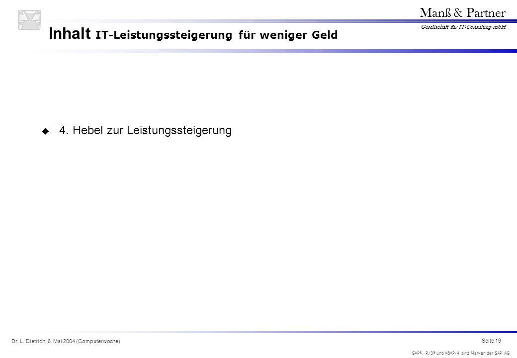 Inhalt IT-Leistungssteigerung für weniger Geld