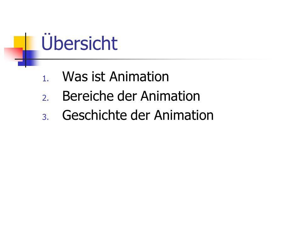 Übersicht Was ist Animation Bereiche der Animation