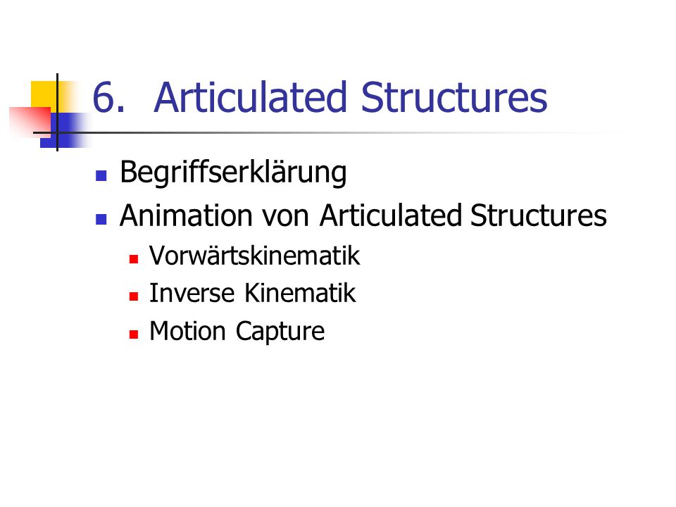 Articulated Structures