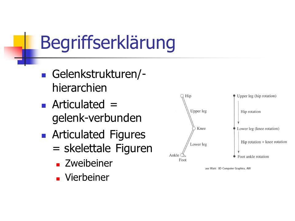 Begriffserklärung Gelenkstrukturen/-hierarchien