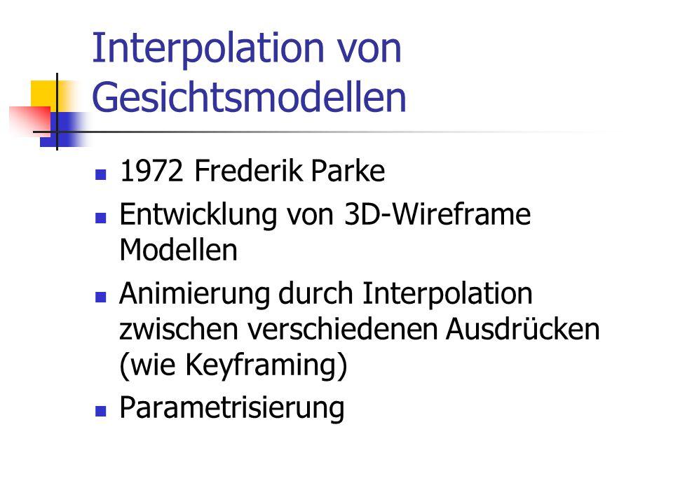Interpolation von Gesichtsmodellen
