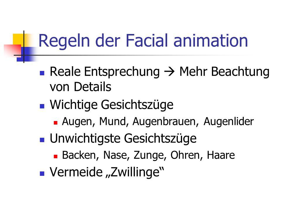Regeln der Facial animation