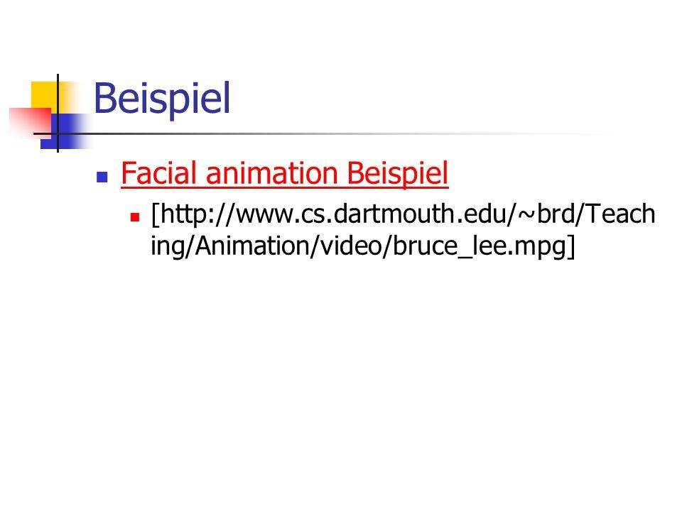 Beispiel Facial animation Beispiel