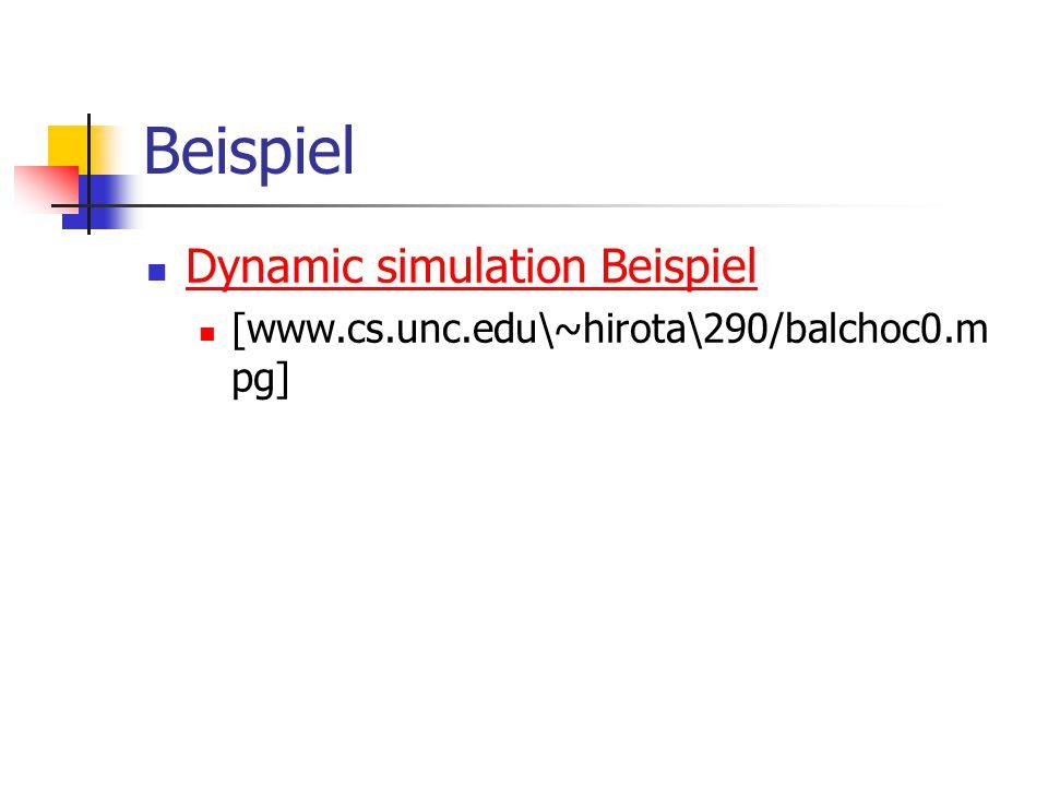 Beispiel Dynamic simulation Beispiel