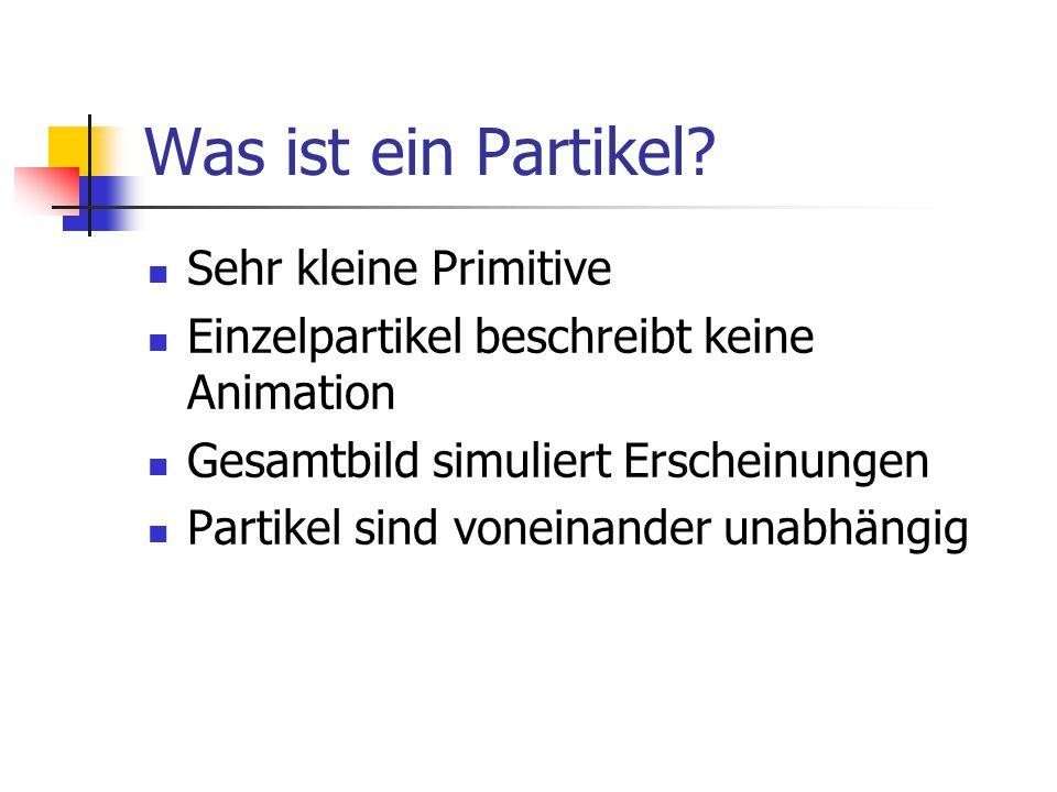 Was ist ein Partikel Sehr kleine Primitive