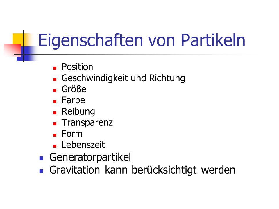 Eigenschaften von Partikeln