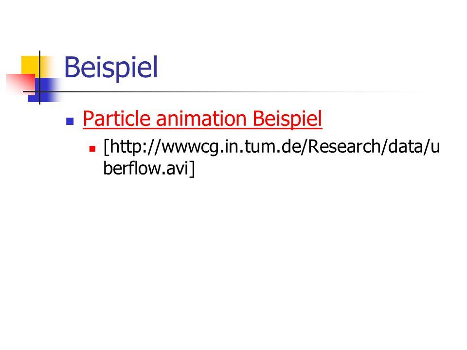 Beispiel Particle animation Beispiel
