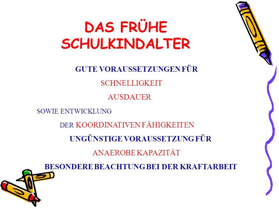 DAS FRÜHE SCHULKINDALTER