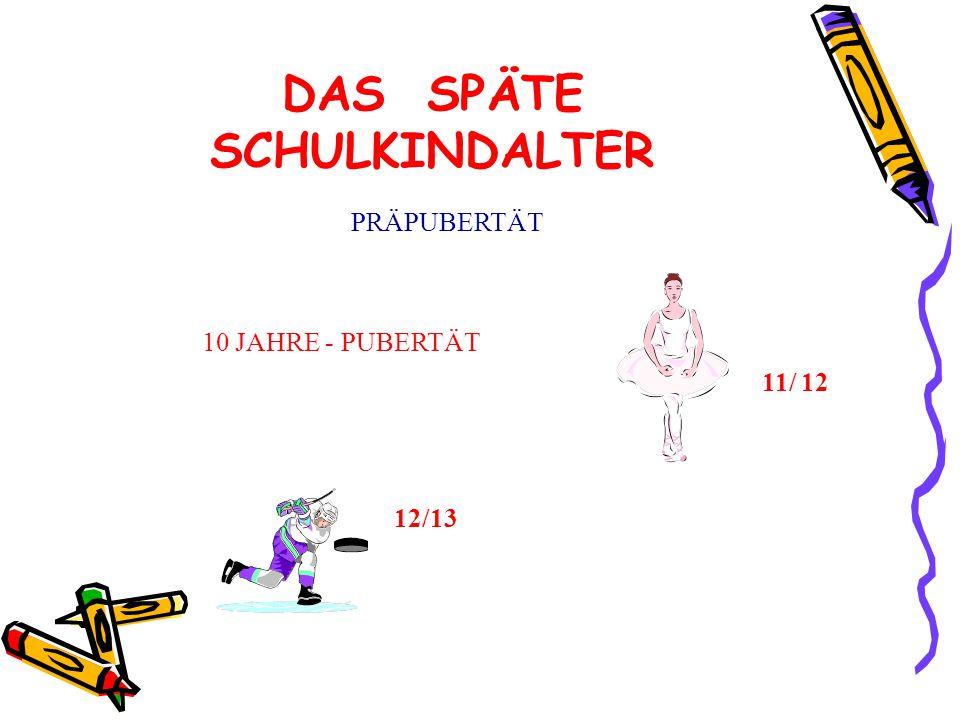 DAS SPÄTE SCHULKINDALTER