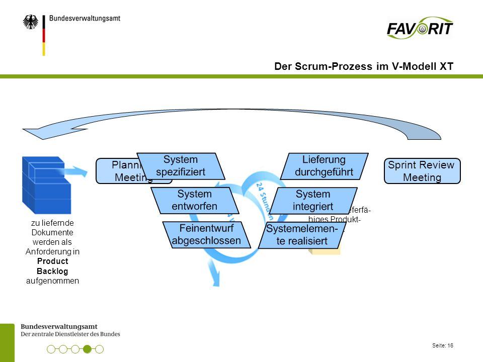Der Scrum-Prozess im V-Modell XT