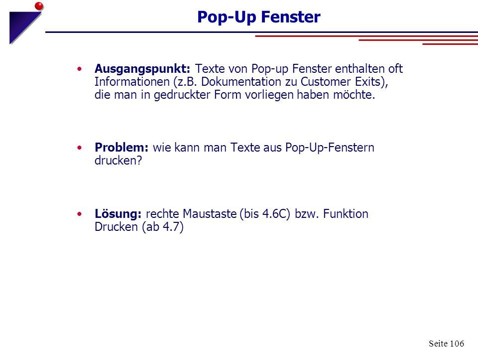 Pop-Up Fenster