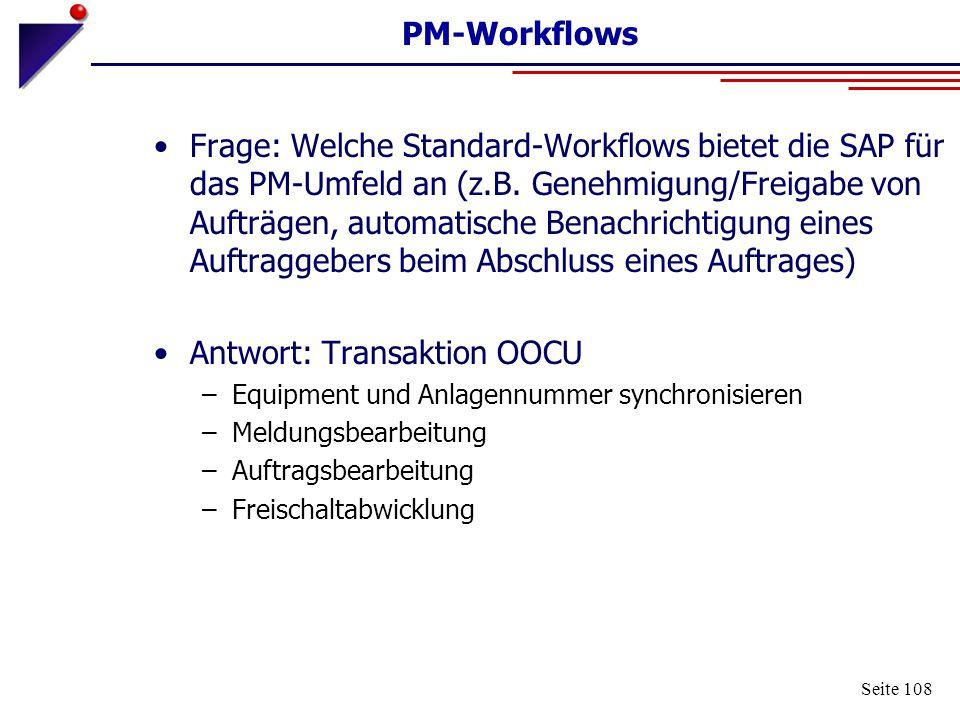 Antwort: Transaktion OOCU