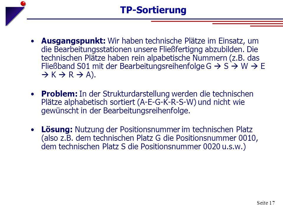 TP-Sortierung