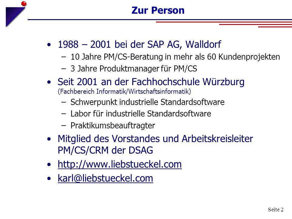 1988 – 2001 bei der SAP AG, Walldorf