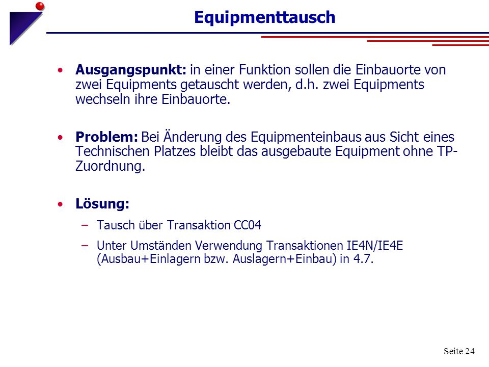Equipmenttausch