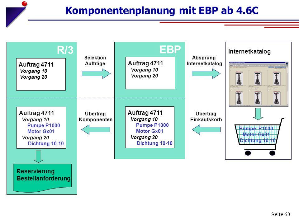 Komponentenplanung mit EBP ab 4.6C