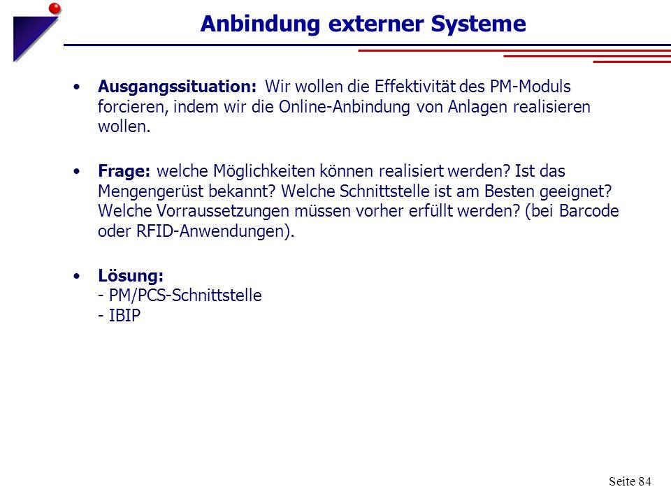 Anbindung externer Systeme