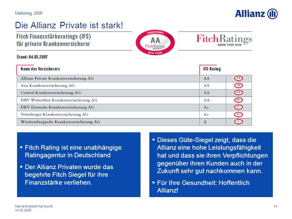 Die Allianz Private ist stark!