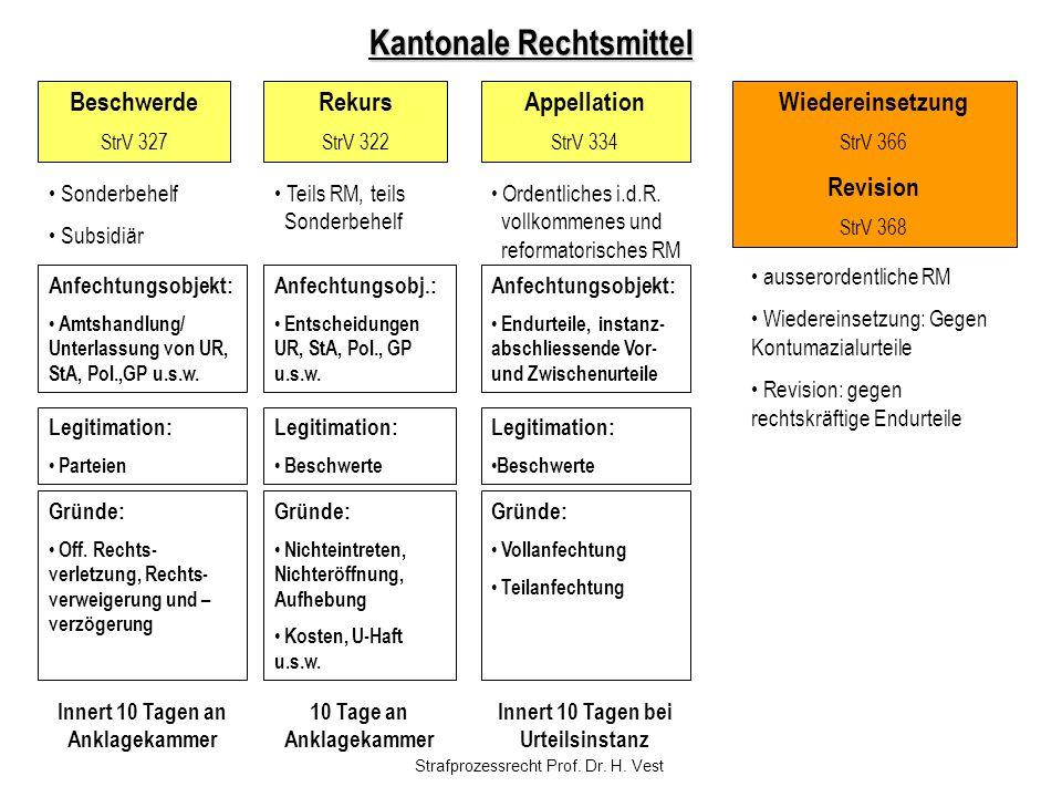 Kantonale Rechtsmittel