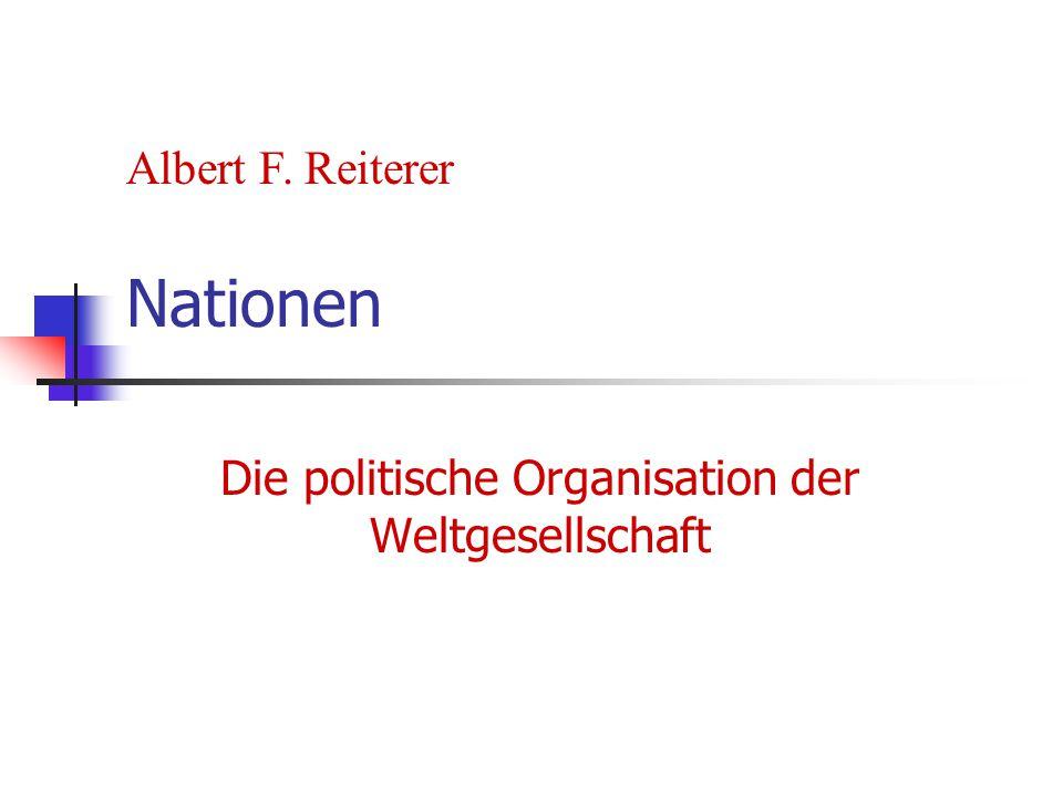 Die politische Organisation der Weltgesellschaft