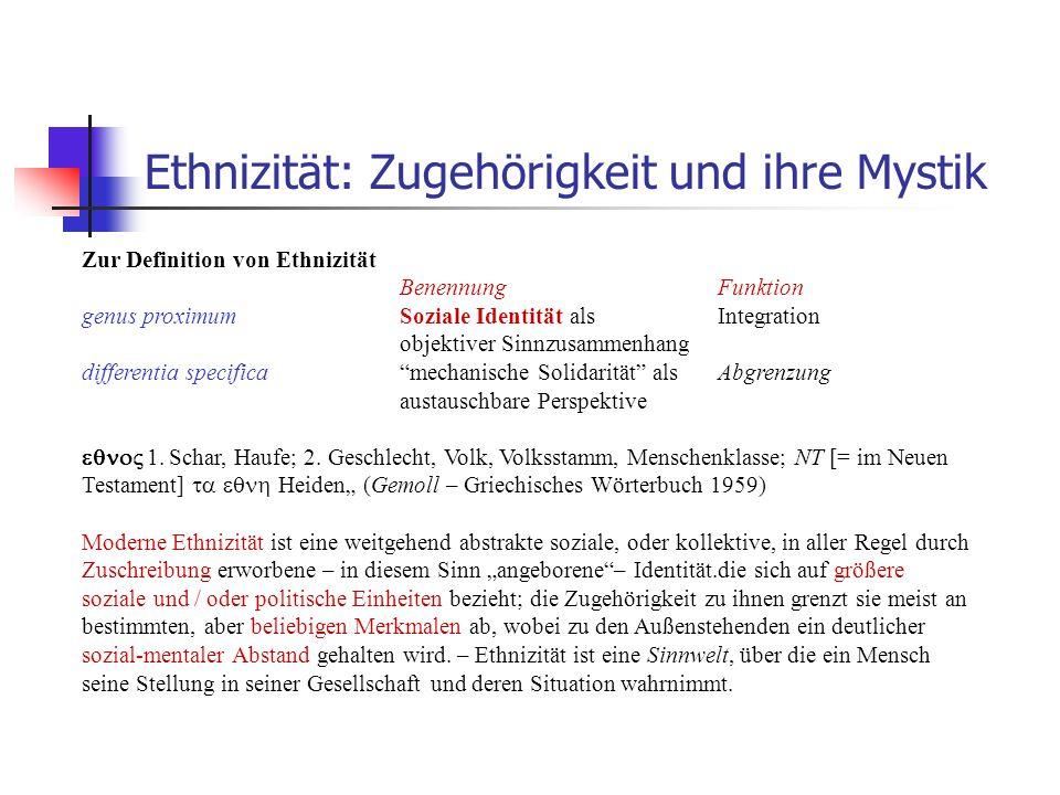 Ethnizität: Zugehörigkeit und ihre Mystik