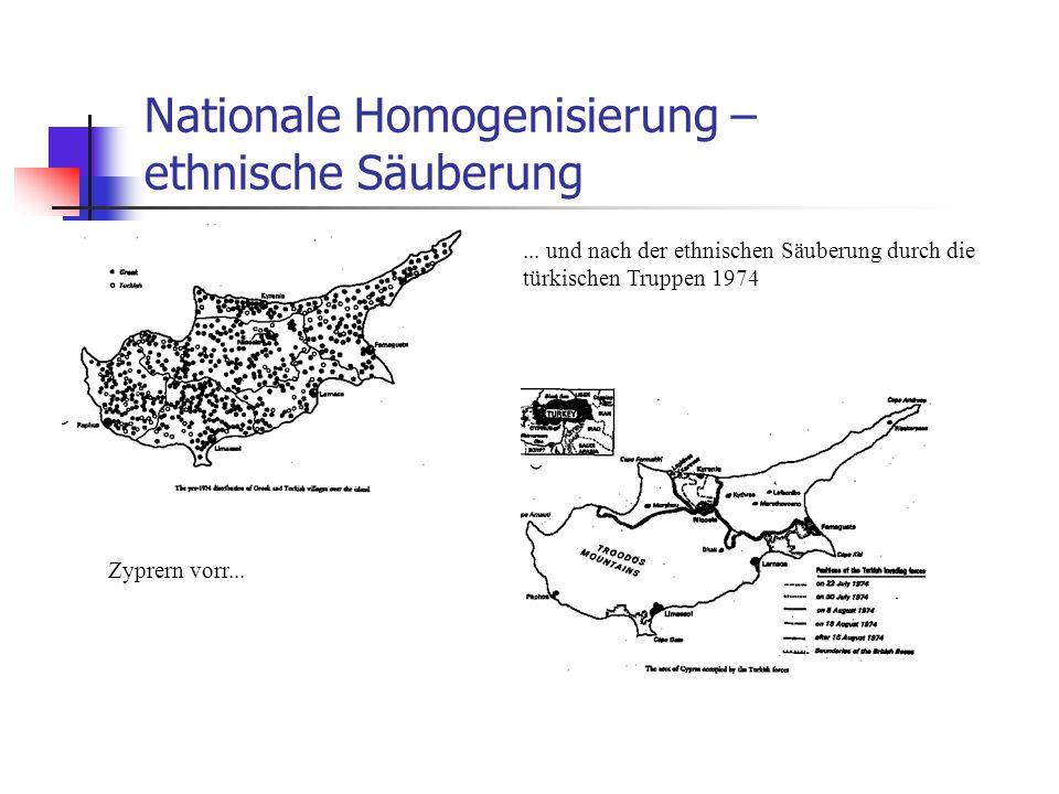 Nationale Homogenisierung – ethnische Säuberung
