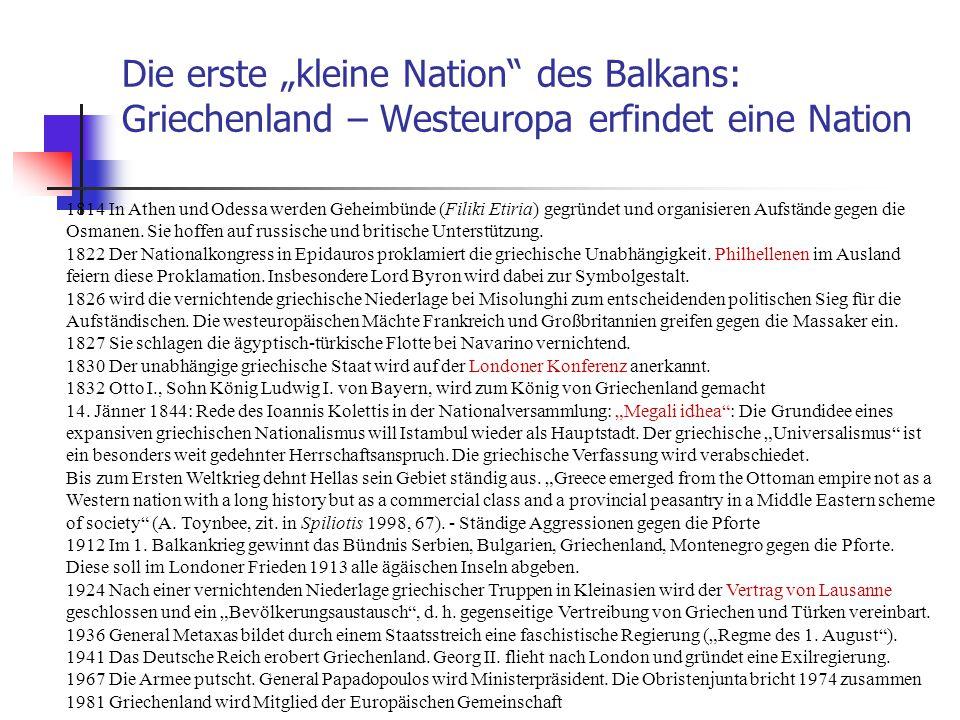 """Die erste """"kleine Nation des Balkans: Griechenland – Westeuropa erfindet eine Nation"""